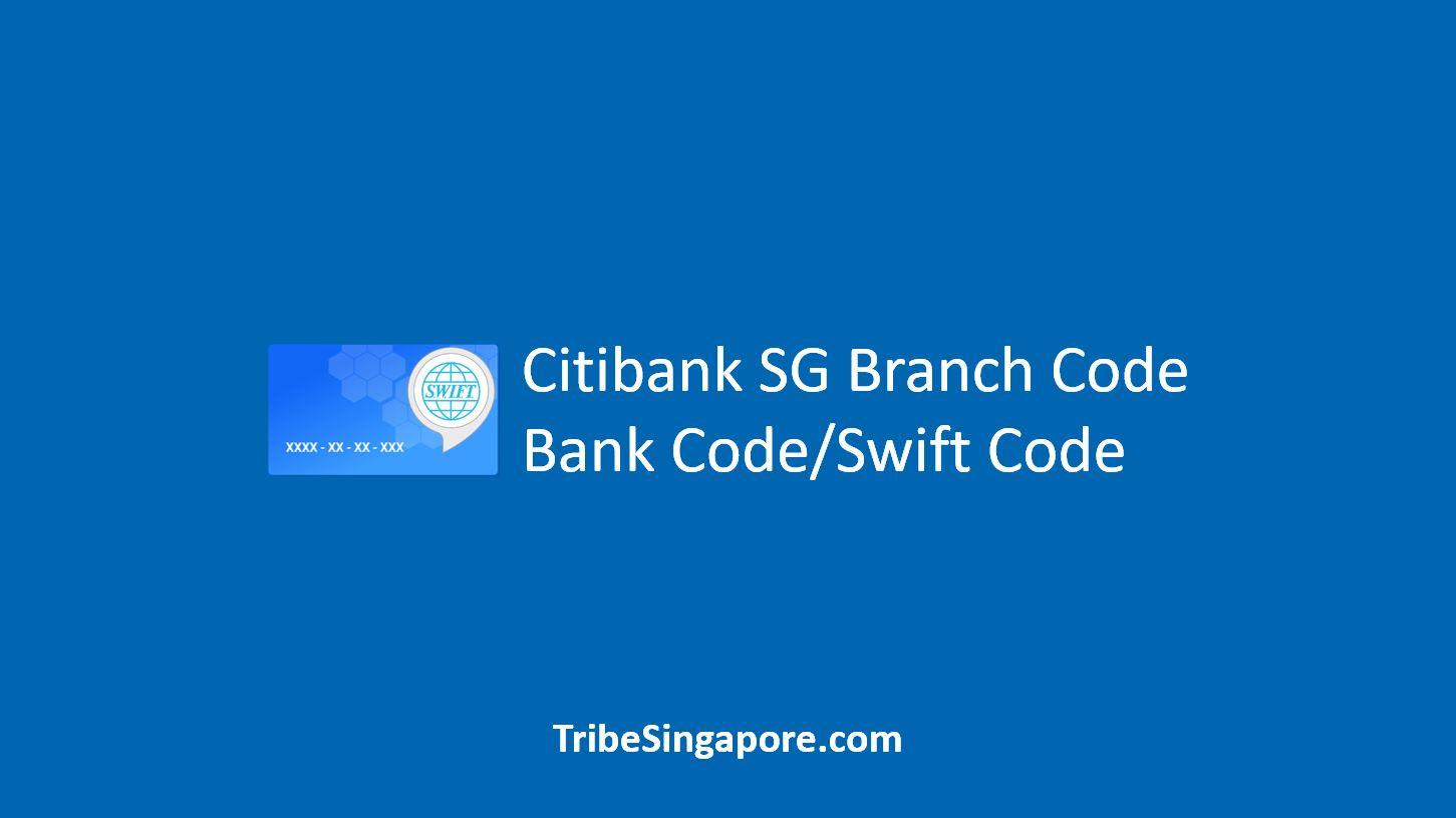 Citibank SG Swift Code