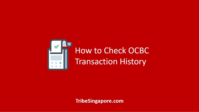 How to Check OCBC Transaction History
