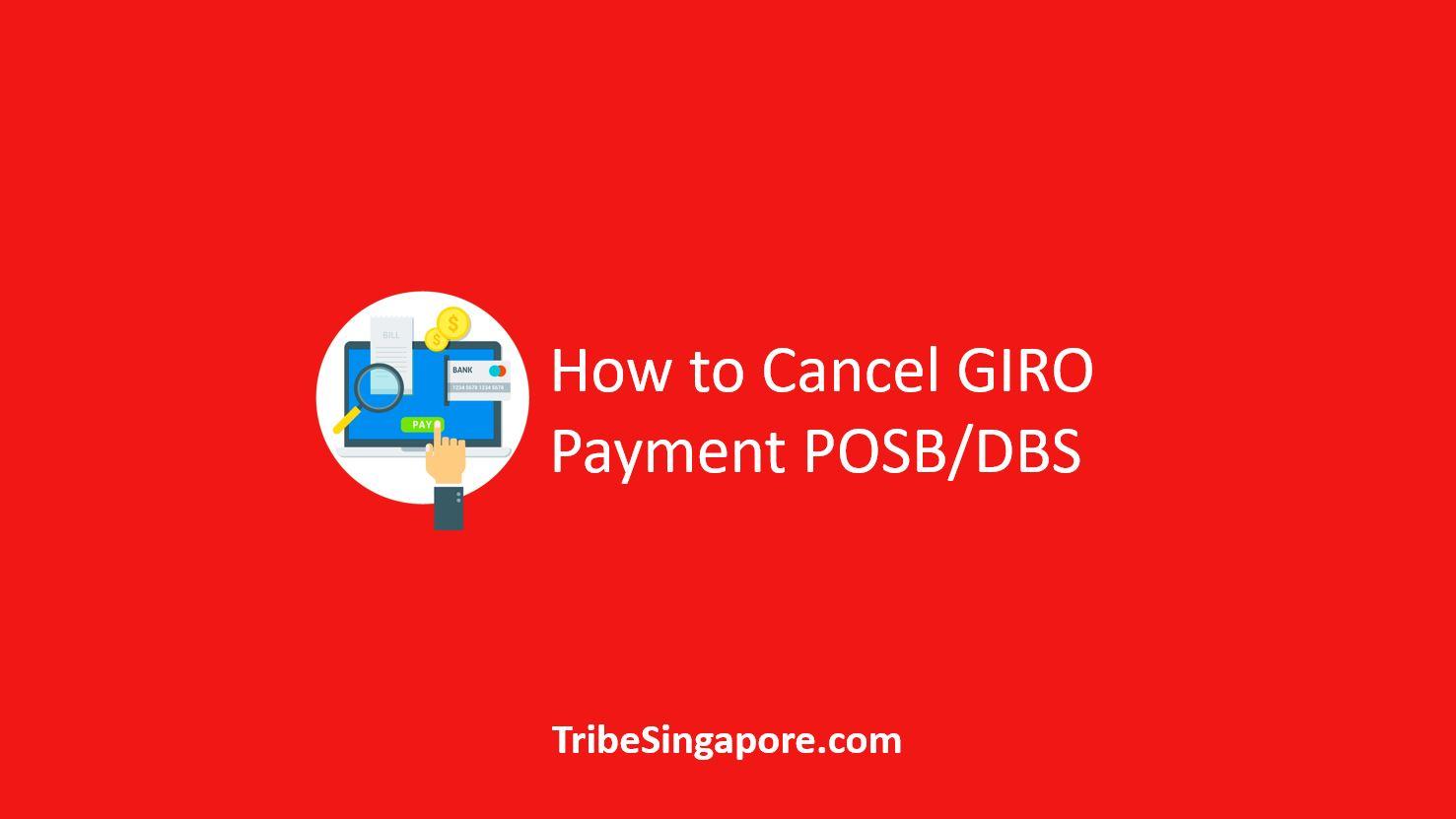 How to Cancel GIRO Payment POSB/DBS