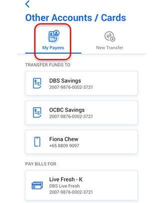 Transfer Money UOB to POSB via Mobile Banking