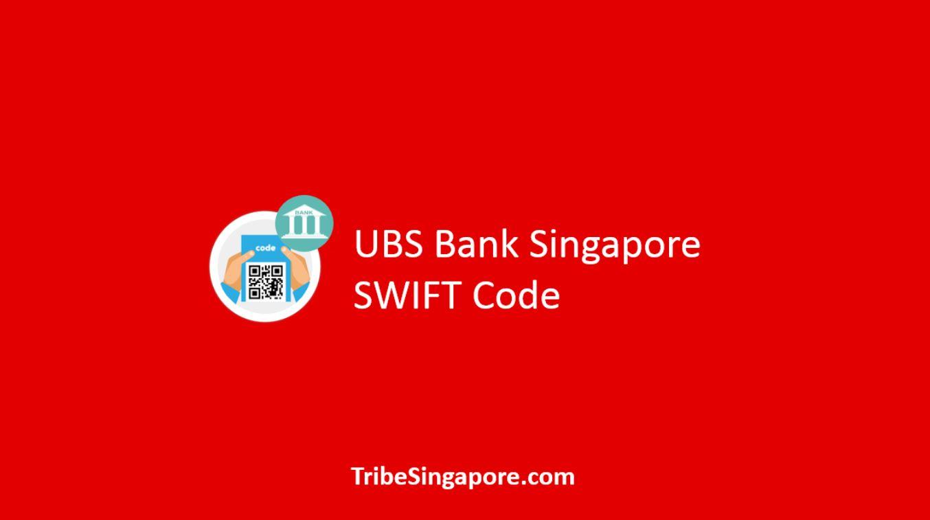 UBS Bank Singapore SWIFT Code