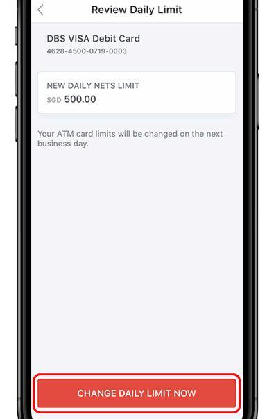 Update POSB ATM Withdrawal Limit