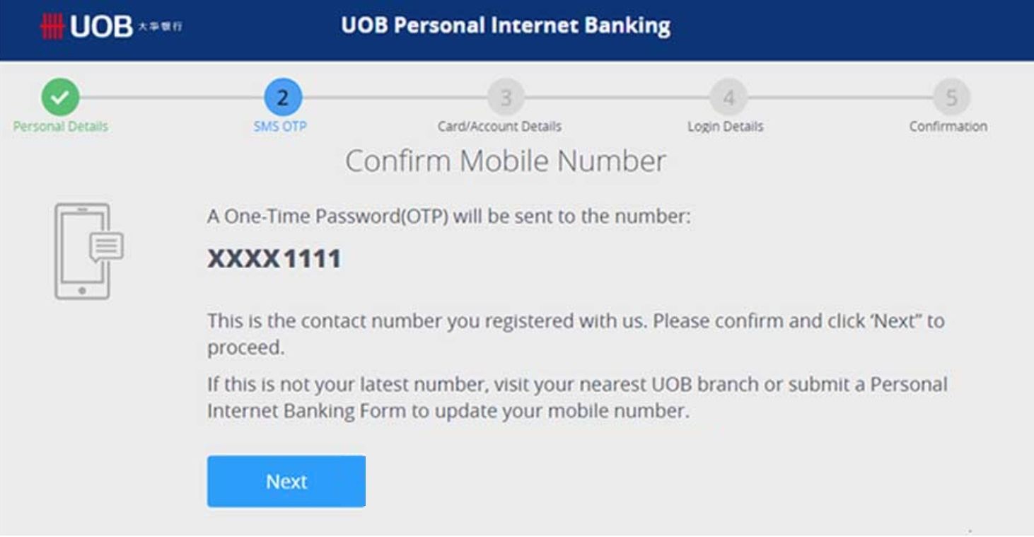 Forgot Username and Password UOB Internet Banking Online Payee