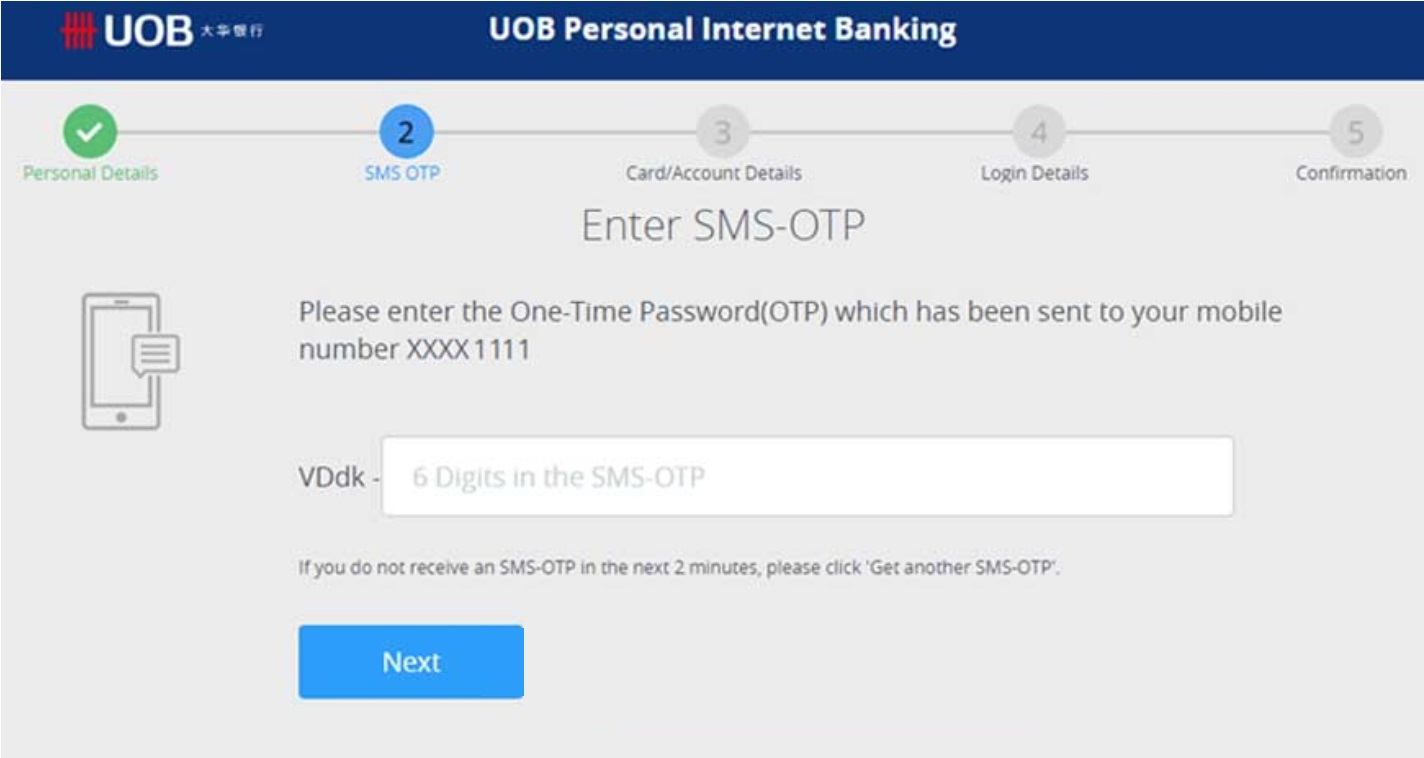 Forgot Username and Password UOB Internet Banking Online Payment