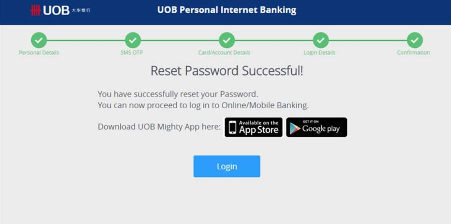 Forgot Username and Password UOB Internet Banking Payment