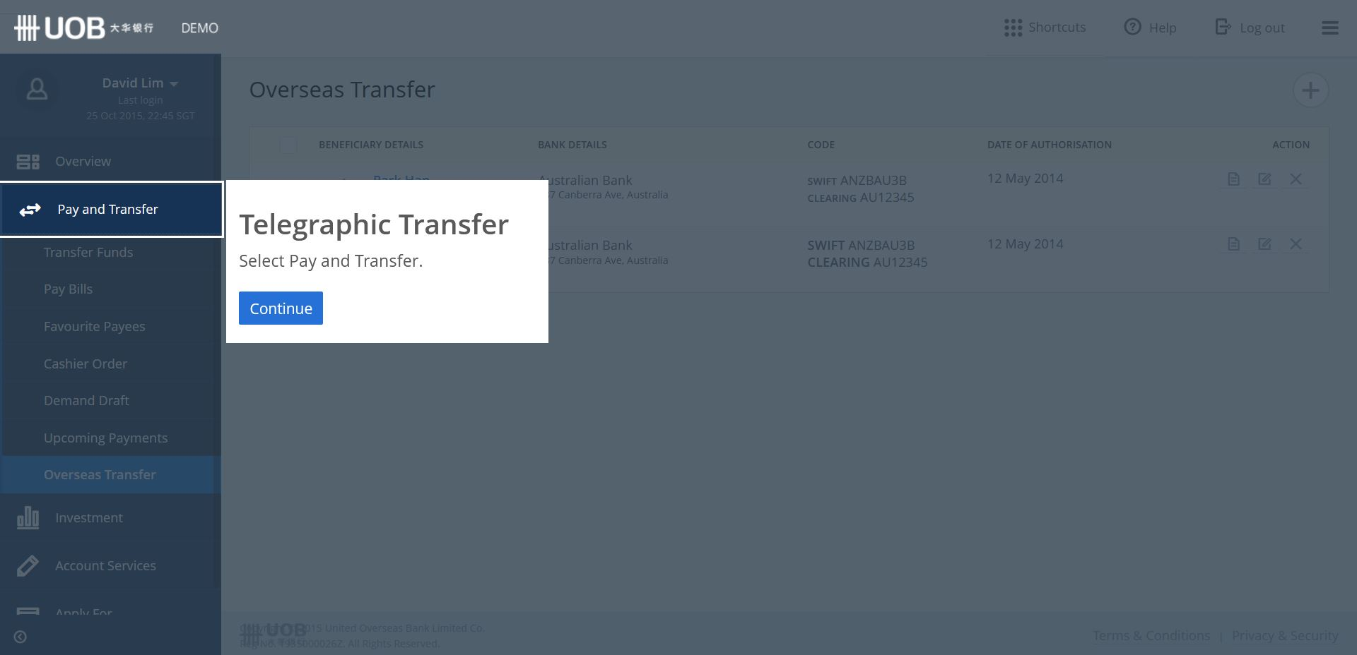 How Do I Transfer Money from UOB to Overseas Bank Online