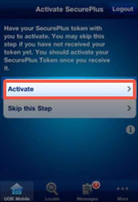 How to Activate UOB Token Online