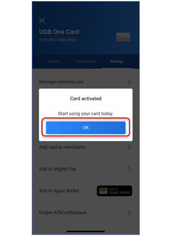 How to Activate for UOB Credit Card Online Payee