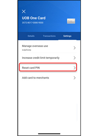 How to Change UOB Card PIN Mobile Banking Payee Online