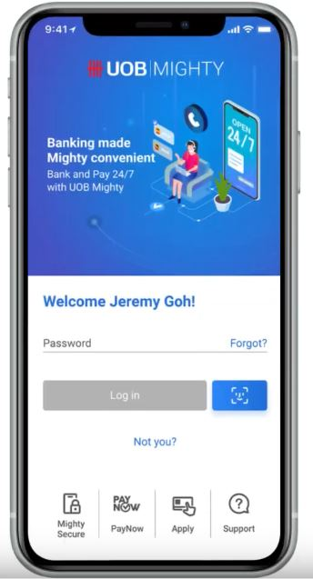 How to Change UOB Device Token via Mighty App