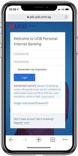 How to Change UOB Internet Banking Password Mobile Banking