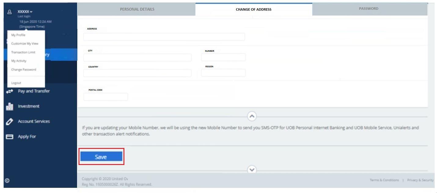How to Change UOB Internet Banking Password Online