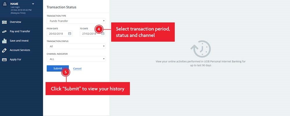 How to Check UOB Transaction History Online Banking