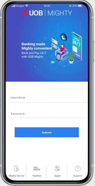 How to Login UOB Internet Banking via Mighty App