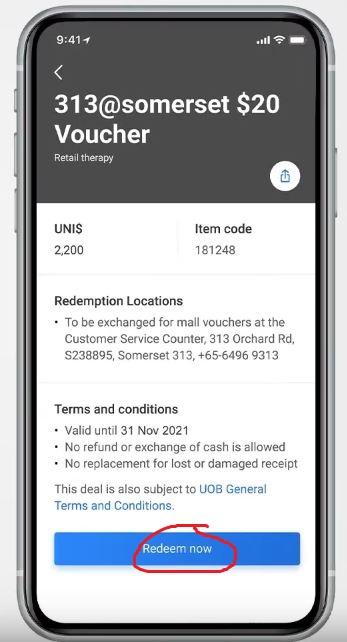 How to Redeem UOB UNI$ Online Pay
