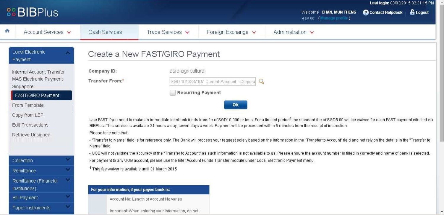 How to Set Up GIRO Payment with UOB Online Pay