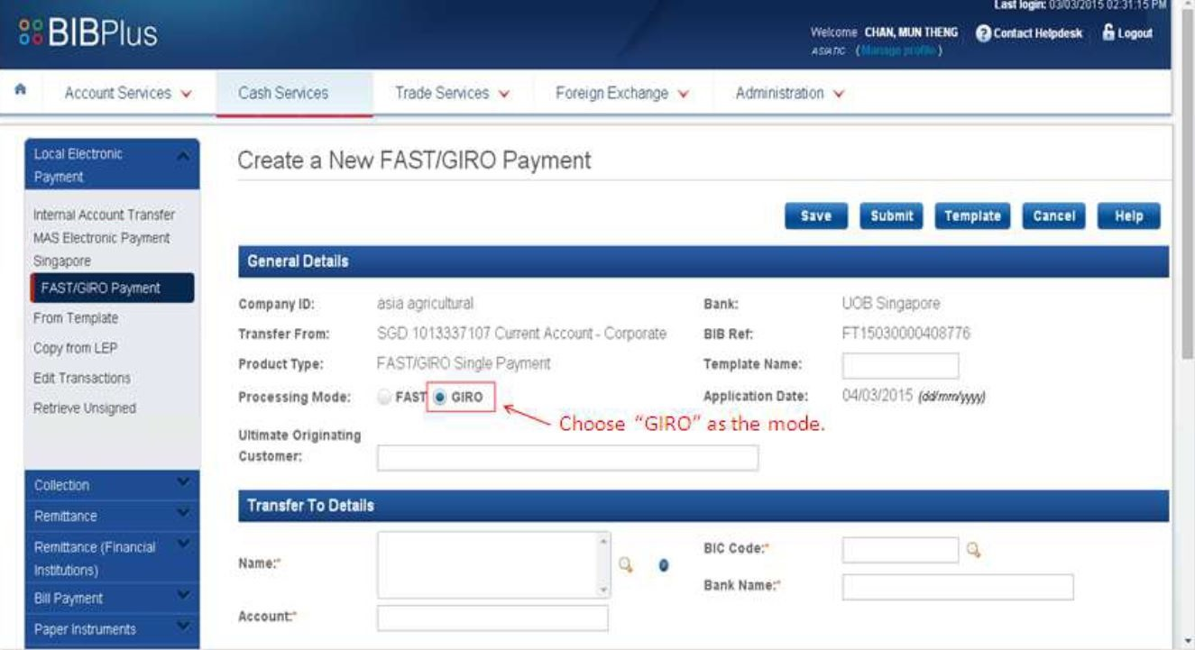 How to Set Up GIRO Payment with UOB Pay Online