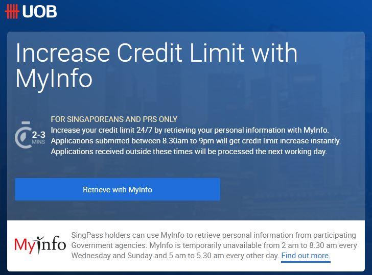 Increase UOB Credit Card Limit